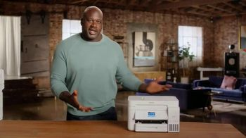 Epson EcoTank TV Spot, 'Print All the Color You Want' Featuring Shaquille O'Neal - Thumbnail 4