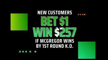DraftKings Sportsbook TV Spot, 'UFC 257: Bet $1, Win $257' - Thumbnail 2