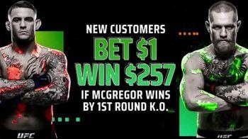DraftKings Sportsbook TV Spot, 'UFC 257: Bet $1, Win $257'
