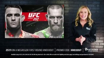 DraftKings Sportsbook TV Spot, 'UFC 257: Bet $1, Win $257' - Thumbnail 4