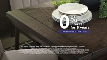 Ashley HomeStore Presidents Day Sale TV Spot, '30% Off: Sofa and Table: No Minimum Purchase' - Thumbnail 4