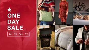 Macy's One Day Sale TV Spot, 'Deals of the Day: Fine Jewelry, Tees, Jeans and Designer Fragrances' - Thumbnail 1