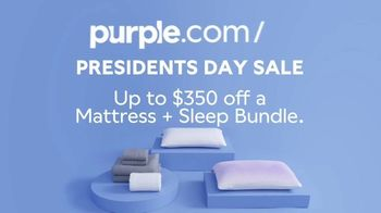 Purple Mattress Presidents Day Sale TV Spot, 'Awkward-Free: $350 Off' - Thumbnail 5