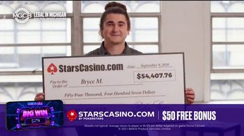 PokerStars Stars Casino TV Spot, 'Sign Up Offer: $50 Bonus'