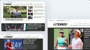 TENNIS.com TV Spot, 'Breaking News, Highlights and Baseline'