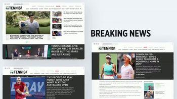 TENNIS.com TV Spot, 'Breaking News, Highlights and Baseline' - Thumbnail 4