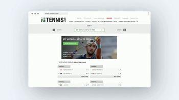 TENNIS.com TV Spot, 'Breaking News, Highlights and Baseline' - Thumbnail 6