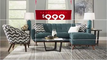 Rooms to Go Presidents Day TV Spot, 'Stylish Rooms: $999 Living Room and More' - Thumbnail 3