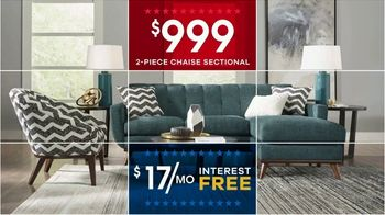 Rooms to Go Presidents Day TV Spot, 'Stylish Rooms: $999 Living Room and More' - Thumbnail 4
