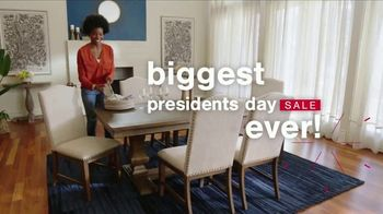 Ashley HomeStore Biggest Presidents Day Sale Ever TV Spot, 'No Minimum, No Interest and 30% Off'