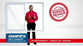 Champion Windows TV Spot, 'Replacement Window Season: Buy Two Get Two'