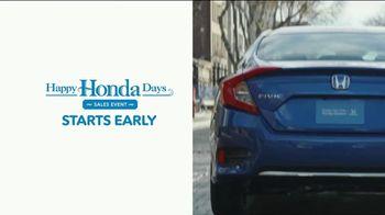 Happy Honda Days Sales Event TV Spot, 'Starts Early: Civic' [T2] - Thumbnail 2