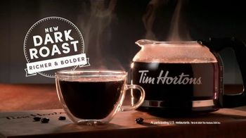 Tim Hortons Dark Roast TV Spot, 'Bold Start: $1 Medium Dark Roast'