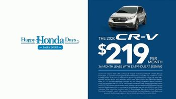 Happy Honda Days Sales Event TV Spot, 'Starts Now: CR-V' [T2] - Thumbnail 2