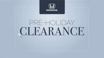 Happy Honda Days Sales Event TV Spot, 'Pre-Holiday Clearance: In Town' [T2] - Thumbnail 6