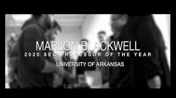 Southeastern Conference TV Spot, '2020 SEC Professor of the Year: Marlon Blackwell' - Thumbnail 1