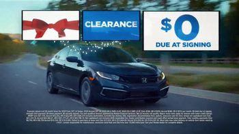 Happy Honda Days Sales Event TV Spot, 'Holiday Clearance: Nothing Due at Signing' [T2] - Thumbnail 1