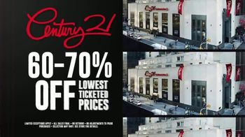 Century 21 Stores Going Out of Business Sale TV Spot, '60-70% Off' - Thumbnail 10