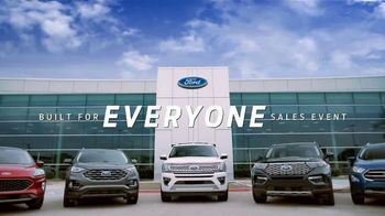 Ford Built for Everyone Sales Event TV Spot, 'Vehicles for the People' Song by Eric Starczan [T2] - Thumbnail 5