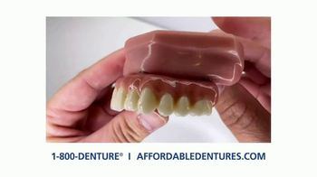 Affordable Dentures TV Spot, 'Go Ahead and Smile With New Dental Implants' - Thumbnail 6