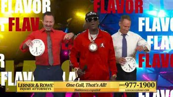 Lerner and Rowe Injury Attorneys TV Spot, 'Hype Man' Featuring Flava Flav - Thumbnail 6