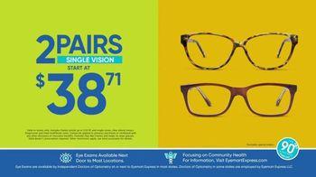 Eyemart Express TV Spot, 'Tax Refund: Two Pairs Under $40' - Thumbnail 2