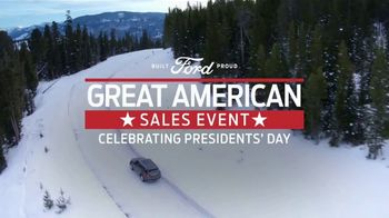 Ford Great American Sales Event TV Spot, 'Presidents Day: SUVs' Song by Kaptain [T2] - Thumbnail 1
