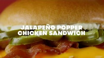 Wendy's Jalapeño Popper Chicken Sandwich and Salad TV Spot, 'Bun Bun Bun' - Thumbnail 2