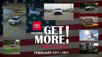 Toyota Get More Sales Event TV Spot, 'Presidents Day Weekend' [T2] - Thumbnail 1