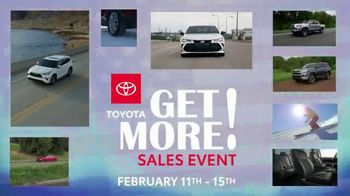 Toyota Get More Sales Event TV Spot, 'Presidents Day Weekend' [T2] - Thumbnail 2
