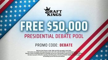 DraftKings TV Spot, 'Presidential Debate Pool' - Thumbnail 8