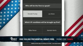 DraftKings TV Spot, 'Presidential Debate Pool' - Thumbnail 6