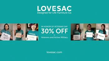 Lovesac TV Spot, 'A Lifetime of Comfort: 30% Off for Veterans Day' Song by Forever Friends - Thumbnail 10