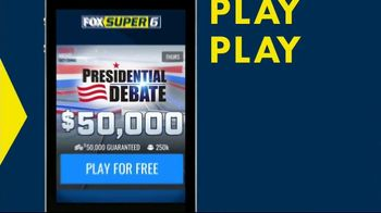 FOX Super 6 Presidential Debate Game TV Spot, 'Before the Debate: $50,000' - Thumbnail 3