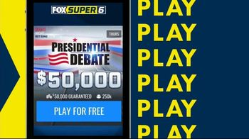 FOX Super 6 Presidential Debate Game TV Spot, 'Before the Debate: $50,000' - Thumbnail 4