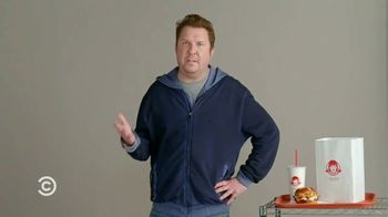 Wendy's Pretzel Bacon Pub Cheeseburger TV Spot, 'Comedy Central: Screen Test' Feat. Nick Swardson - Thumbnail 8