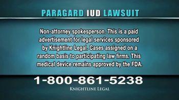 Knightline Legal TV Spot, 'Paragard IUD' - Thumbnail 1