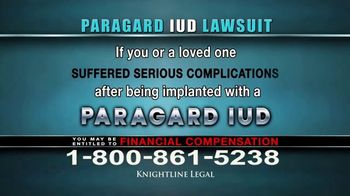 Knightline Legal TV Spot, \'Paragard IUD\'