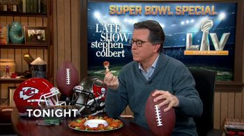 The Late Show Super Bowl 2021 TV Prpmo, 'Chicken Wings'