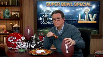 The Late Show Super Bowl 2021 TV Prpmo, 'Chicken Wings' - Thumbnail 1