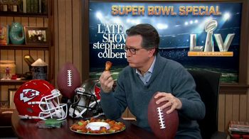 The Late Show Super Bowl 2021 TV Prpmo, 'Chicken Wings' - Thumbnail 2