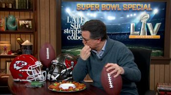 The Late Show Super Bowl 2021 TV Prpmo, 'Chicken Wings' - Thumbnail 3