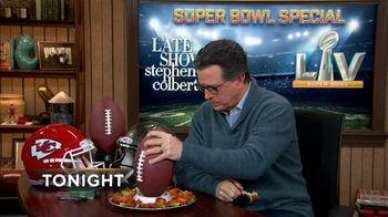 The Late Show Super Bowl 2021 TV Prpmo, 'Chicken Wings' - Thumbnail 6