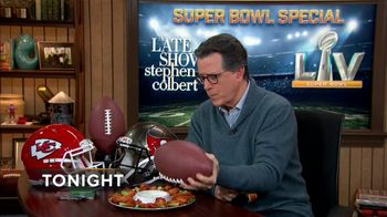 The Late Show Super Bowl 2021 TV Prpmo, 'Chicken Wings' - Thumbnail 8