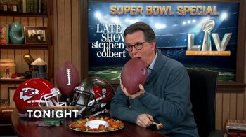 The Late Show Super Bowl 2021 TV Prpmo, 'Chicken Wings' - Thumbnail 9