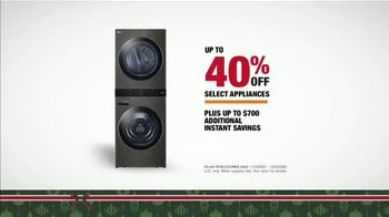 The Home Depot Black Friday Prices TV Spot, 'Holiday Help: LG WashTower' - Thumbnail 7