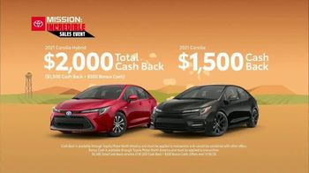 Toyota Mission: Incredible Sales Event TV Spot, 'Incredible Savings: Corolla' [T2] - Thumbnail 2