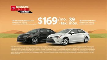 Toyota Mission: Incredible Sales Event TV Spot, 'Incredible Savings: Corolla' [T2] - Thumbnail 3