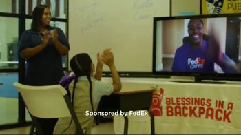FedEx TV Spot, 'Blessings in a Backpack' Featuring Josh Jacobs - Thumbnail 7