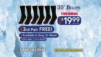 35 Degrees Below Socks TV Spot, 'Secret to Keeping Feet Warm: Bonus Third Pair' - Thumbnail 10